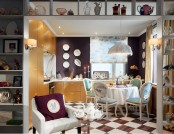 Paris, I Love You: Simple Kitchen Interior in French Style