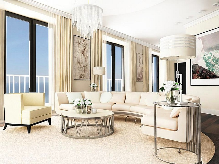 4-2-light-contemporary-style-living-room-lounge-interior-design-semi-circular-sofa-beige-walls-dark-brown-parquet-floor-metal-coffee-table-lamp-glass-chandelier-arm-chair-panoramic-windows-sea-view