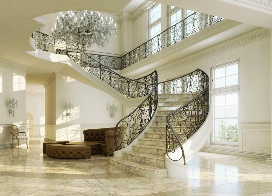 4-2-stone-staircase-stairs-classical-style-interior-gorgeous-chandelier-wall-lamps-sconces