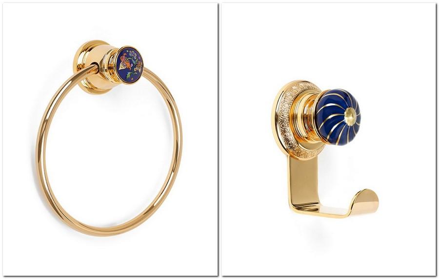 5-Vassilissa-bathroom-collection-Serdaneli-France-in-Russian-style-accessories-by-Evgenia-Miro-gold-dark-blue-folk-motifs-luxurious-towel-holder-ring-hook