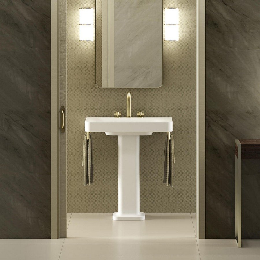 6-5-new-Baa-collection-2017-by-Roca-bathroom-design-by-Giorgio-Armani-luxurious-premium-interior-wash-basin-stand-matte-gold-water-mixer-tap-towel-rails-beige-and-white-gray-walls-mirror-lamps
