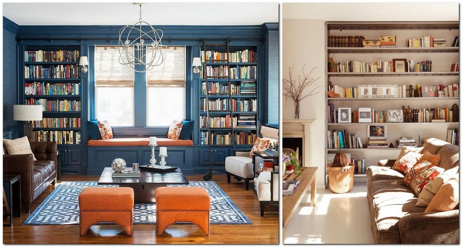 6-beautiful-cozy-living-room-interior-design-ideas-window-sill-bench-bih-home-library-bookshelves-floor-to-ceiling-bookcase