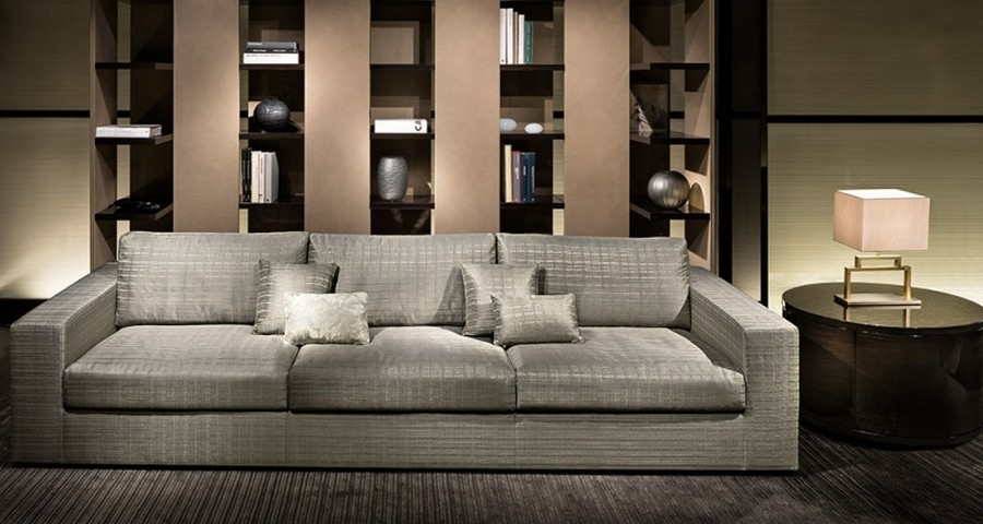 7-3-Giorgio-Armani-Casa-by-Rubelli-luxurious-home-textile-upholstery-fabrics-in-living-room-interior-design-gray-sofa-carpeting-table-lamp-coffee-table-shelving-unit