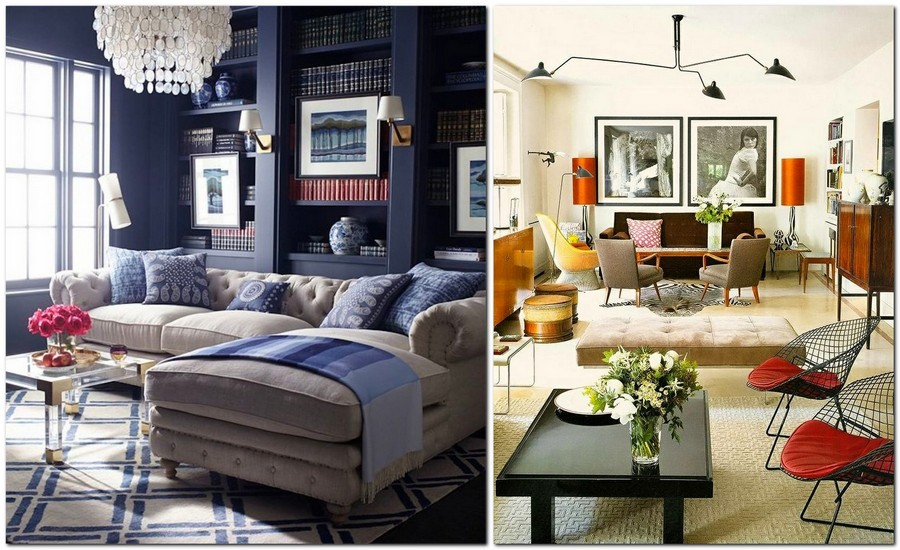 8-beautiful-cozy-living-room-interior-design-ideas-blue-and-gray-classical-chandelier-symmetrical-table-lamps-coffee-table-arm-chairs-corner-sofa
