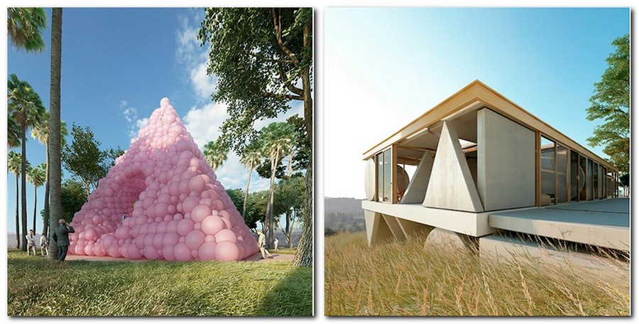 1-1-pink-balloons-pyramid-house-by-Cyril-Lancelin-modular-residential-architecture-in-France