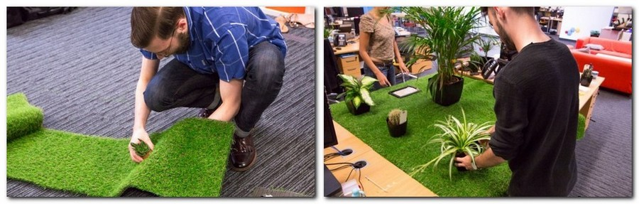 1-3-creative-office-interior-ideas-mini-garden-faux-lawn-grass-potted-plants-indoor-garden