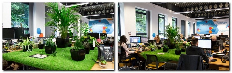 1-4-creative-office-interior-ideas-mini-garden-faux-lawn-grass-potted-plants-indoor-garden