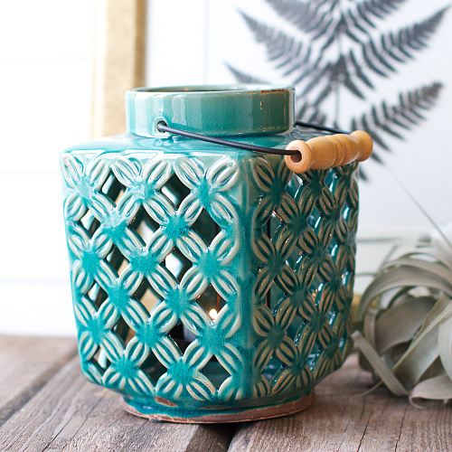 13-2-light-blue-turquoise-ceramic-candle-holder-with-wooden-handle