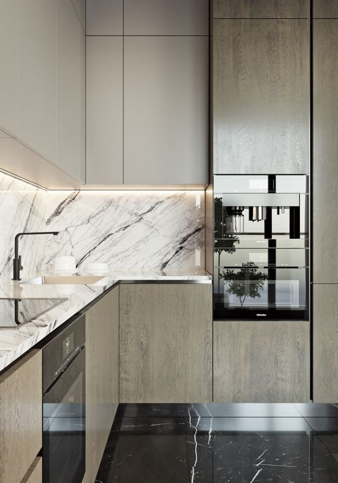 13-MDF-panels-boards-in-interior-design-base-kitchen-cabinets-white-top-cabinets-marbke-worktop-countertop-backsplash-built-in-oven-black-faucet
