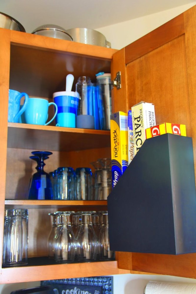 15-small-kitchen-storage-ideas-design-hacks-rational-space-paper-organizer-inside-cabinet-door-holder