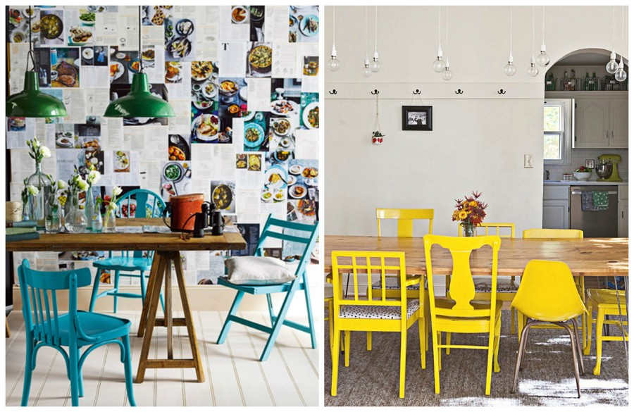 2-3-mismatched-chairs-in-kitchen-dining-room-interior-design-blue-yellow-different-models