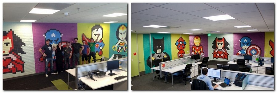 2-4-creative-office-interior-ideas-pixel-style-wall-decor-from-sticky-notes-multicolor-super-heroes
