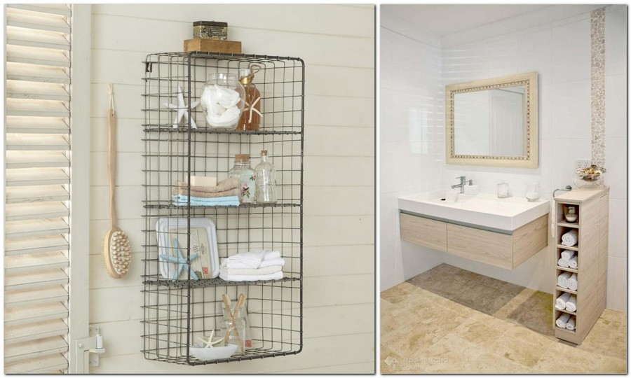 2-neat-tidy-clean-bathroom-interior-design-wall-mounted-metal-shelf-for-towels-accessories-wall-mounted-vanity-unit-narrow-shelving-unit-mirror-beige-floor-light