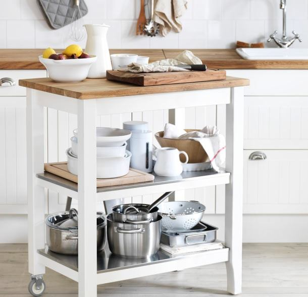 20-small-kitchen-storage-ideas-design-hacks-rational-space-shite-serving-cart-trolley-on-wheels-Scandinavian-style