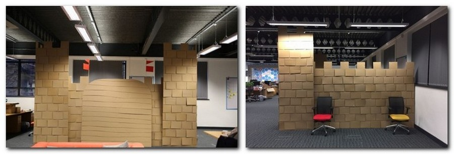 3-3-creative-office-interior-ideas-cardboard-castle-handmade