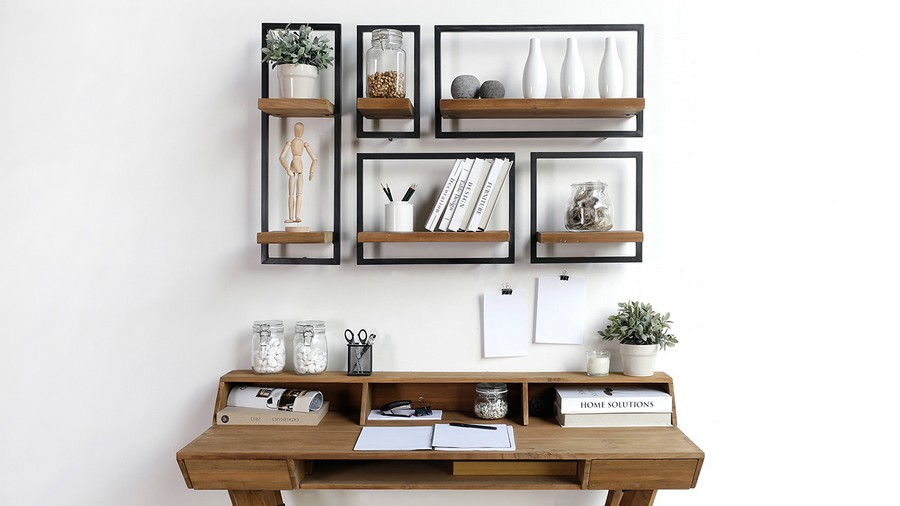 3-3-shelves-creative-shelving-units-geometrical-wooden-above-writing-desk