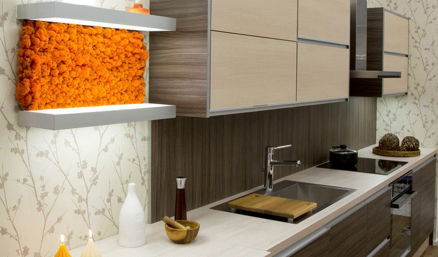 3-3-stabilized-natural-living-moss-in-interior-design-home-decor-eco-style-painted-orange-on-kitchen-backsplash