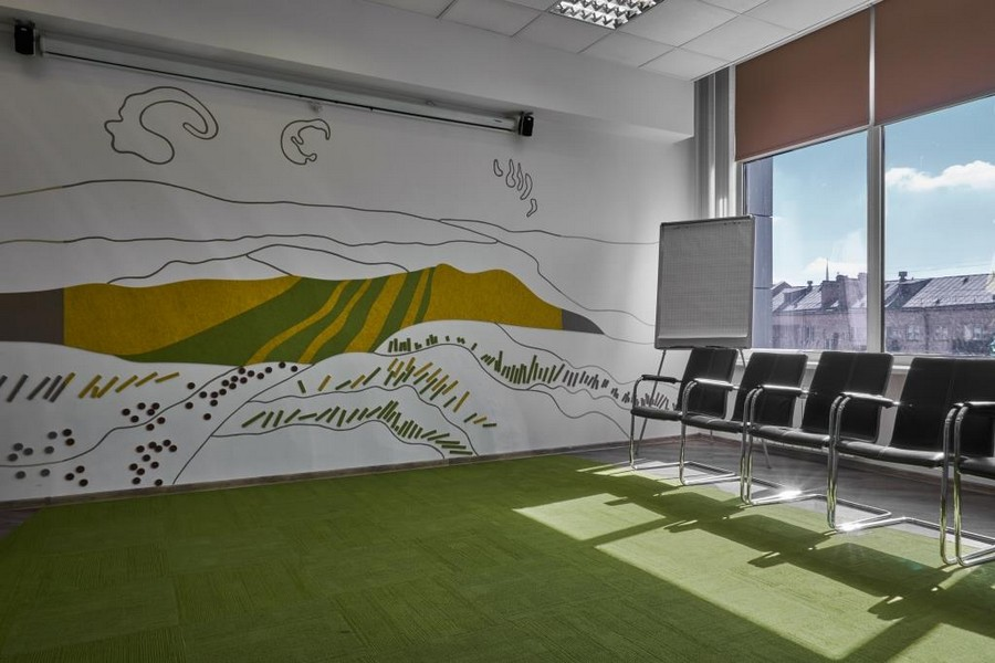3-office-meeting-room-interior-design-panoramic-windows-chairs-projector-screen-multicolor-felt-wall-coverings-agricultural-company-fields-wheats