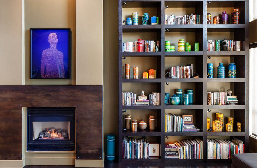 4-2-shelves-decoration-of-bookshelves-decor-ideas-books-organized-according-to-colors-faux-fireplace-home-library