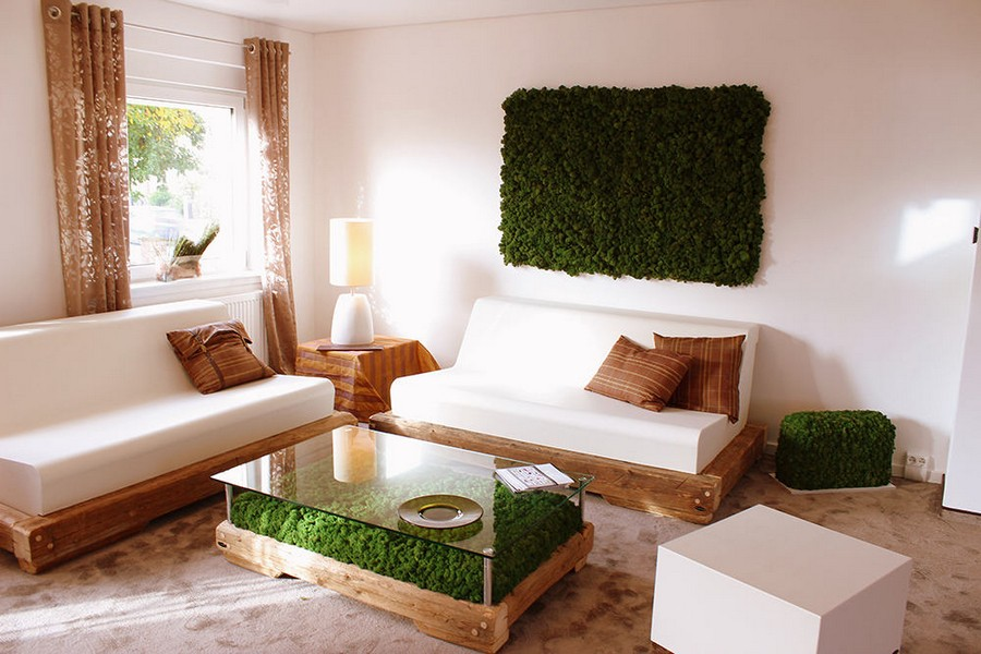 Living Moss in Interior Design: 25 Ideas and Care Tips | Home ...
