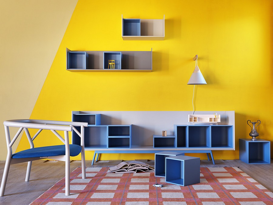 4-5-shelves-creative-shelving-units-light-blue-yellow-wall-red-rug-living-room