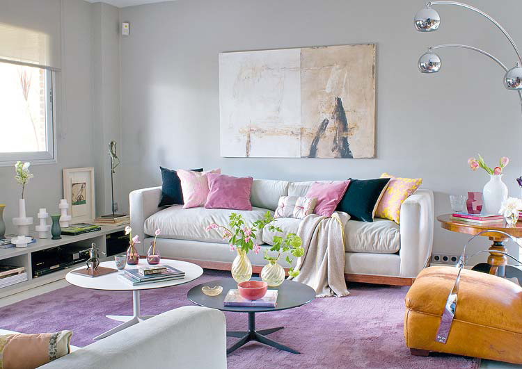 4 Lilac Grey Color In Interior Design Delicate