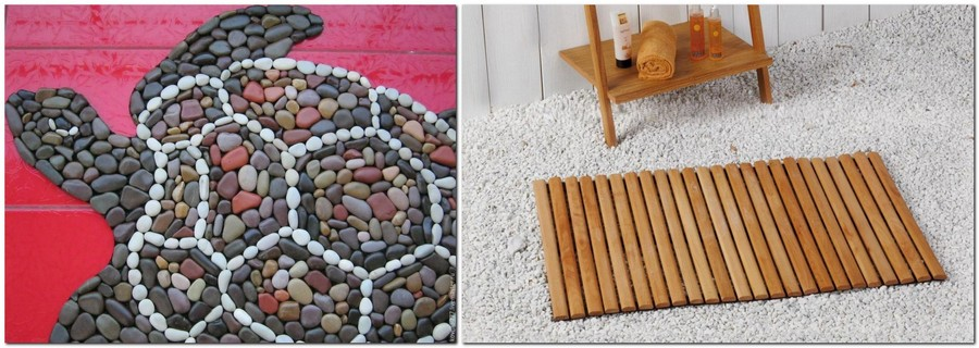 4-unusual-bathroom-rugs-mats-pebbles-wooden-wood-turtle-shaped