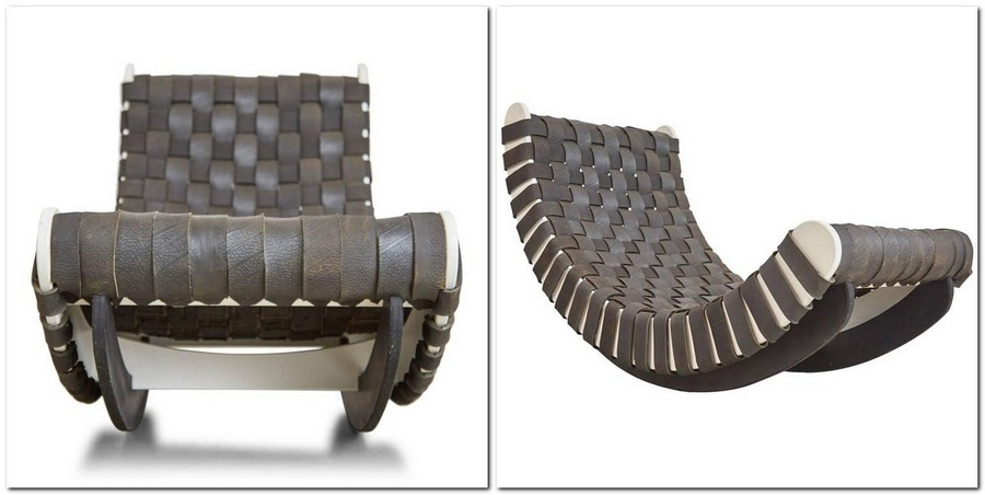 4-zero-waste-target-production-of-furniture-from-recycled-waste-Leo-Kempf-Design-USA-black-rocking-chair-made-from-recycled-rubber-car-tires