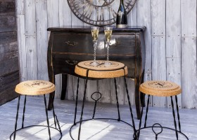 5-3-Champagne-France-Chair-with-iron-framewrok-cork-seat-shaped-like-champagne-bottle-retainer-in-vintage-style-interior
