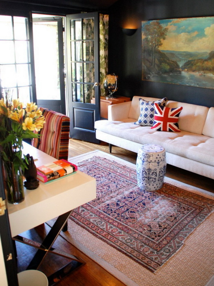 5-3-eclectic-living-room-interior-design-rug-carpet-ottoman-sofa-couch-pillows-table-artwork-door