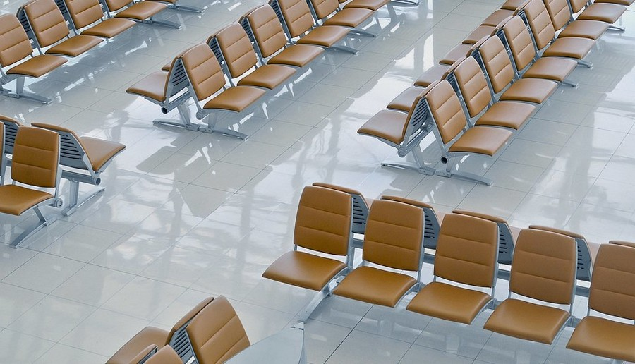 5-airport-waiting-area-empty-brown-chairs-white-glossy-floor