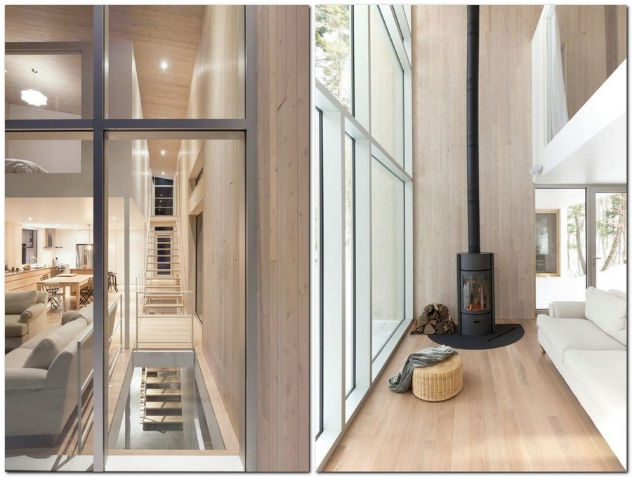 5-light-wood-house-interior-in-the-wood-Canada-panoramic-windows-light-airy-white-minimalist-ascetic-wood-stove-living-room-kitchen-open-plan