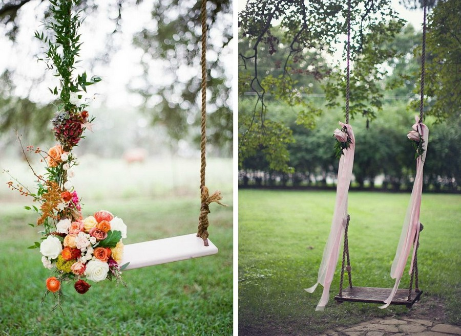 6-outdoor-wedding-in-the-garden-decoration-ideas-beautiful-decor-garden-swing-decorated-with-ribbons-flowers