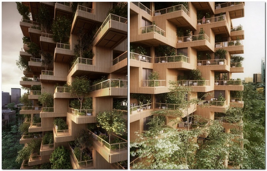 6-wooden-timber-log-house-tower-residential-multi-storey-building-in-Toronto-Canada-by-Penda-Architects-vertical-garden-green-eco-friendly-architecture