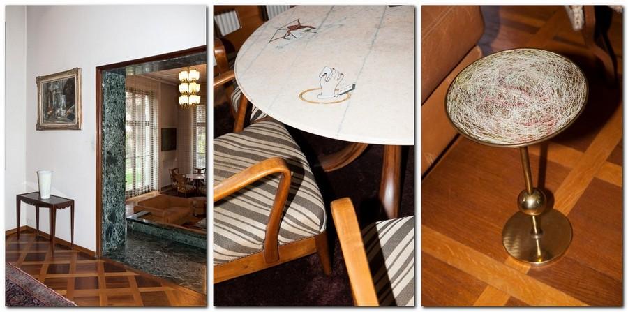 7-Italian-villa-interior-design-by-Osvaldo-Borsani-antique-poker-table-design-natural-stone-chairs-coffee-table-doorway-console