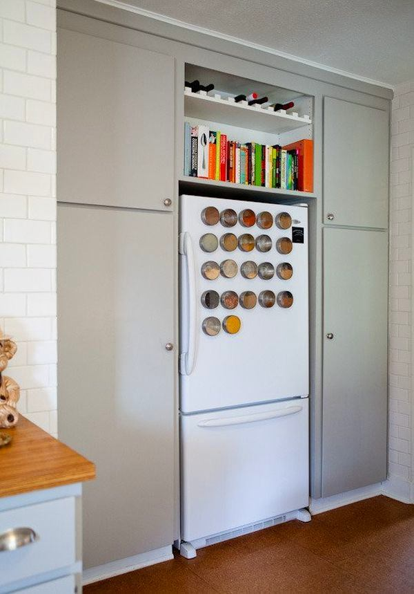 7-small-kitchen-storage-ideas-design-hacks-rational-space-magnetic-spice-jars-on-fridge-refrigerator