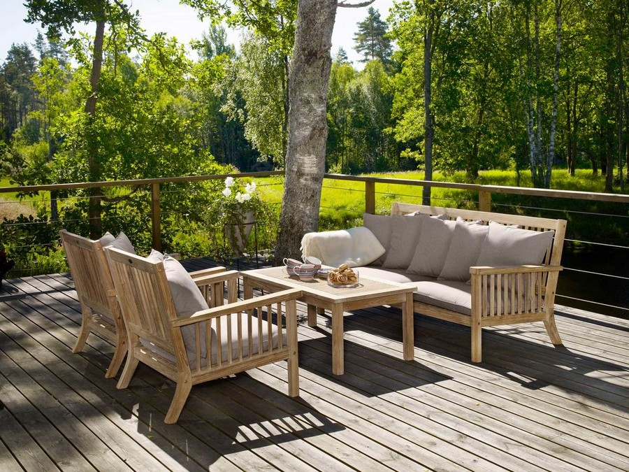 Trend Natural Teak Cecilia Outdoor Furniture Sofa