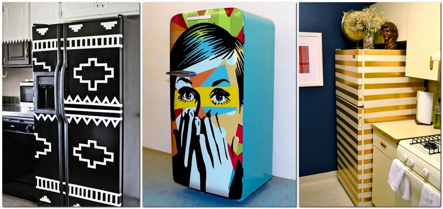 9-ideas-where-how-to-hide-conceal-disguise-refrigerator-fridge-magnetic-full-size-panels-pop-art-ethnic-style-strips-washi-tape-adhesive-film-stickers