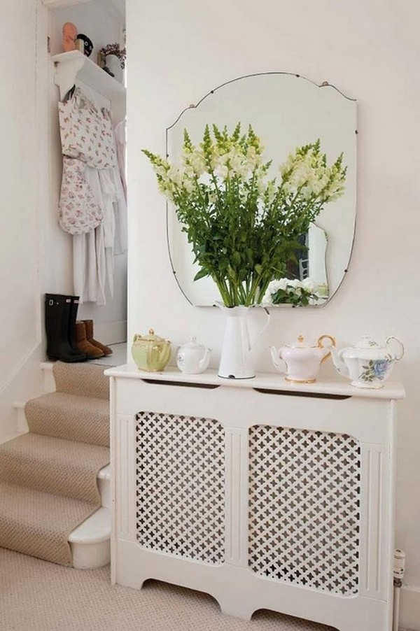 0-attractive-decorative-radiator-design-ideas-stylish-cover-wooden-screen-panel-in-hallway-interior-mudroom-mirror-flowers-cups
