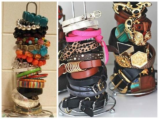 1-jewelry-storage-ideas-bracelets-on-a-one-roll-paper-towel-holder