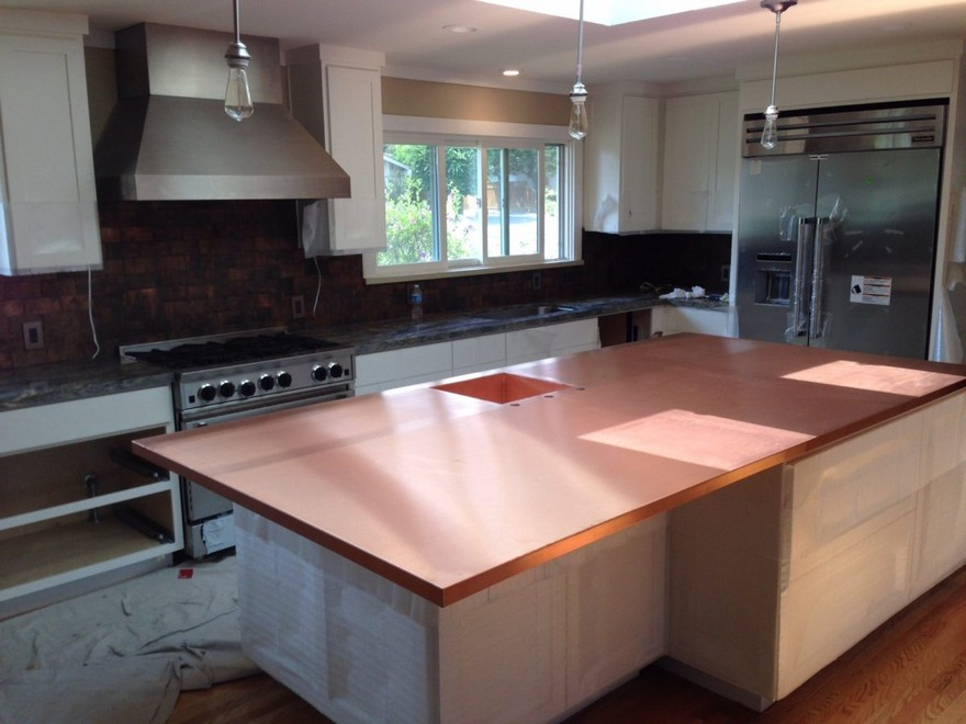 3 Copper Kitchen Countertop Worktop In Interior Design