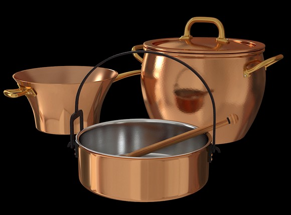 4-copper-kitchenware-tableware-pots
