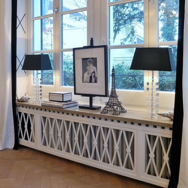 5-attractive-decorative-radiator-design-ideas-stylish-cover-panel-screen-white-wooden-windowsill-art-deco-eclectic-style-interior-room-black-table-lamps-eiffel-tower-retro-photo