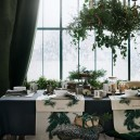 6-3-new-Christmas-2017-collection-of-home-decor-interior-design-by-H&M-Home-beautiful-dining-room-decoration-festive-table-setting-winter-window-view-emerald-green-tablecloth-white-runners-curtains
