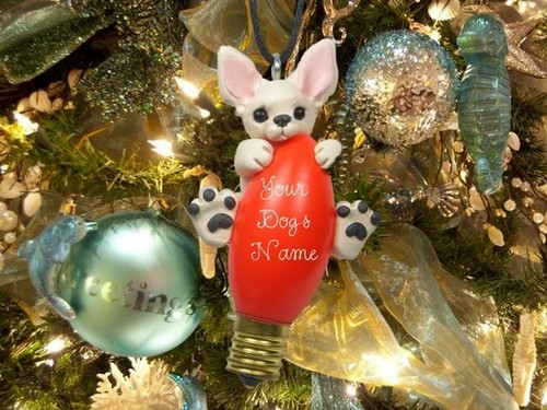 6-old-light-bulbs-recycling-reuse-ideas-DIY-handmade-Christmas-tree-decorations-polymer-clay-dog-puppy