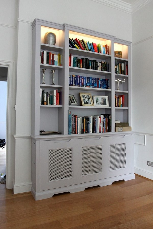 8-attractive-decorative-radiator-design-ideas-stylish-white-wooden-cover-screen-panel-bookcase-cabinet