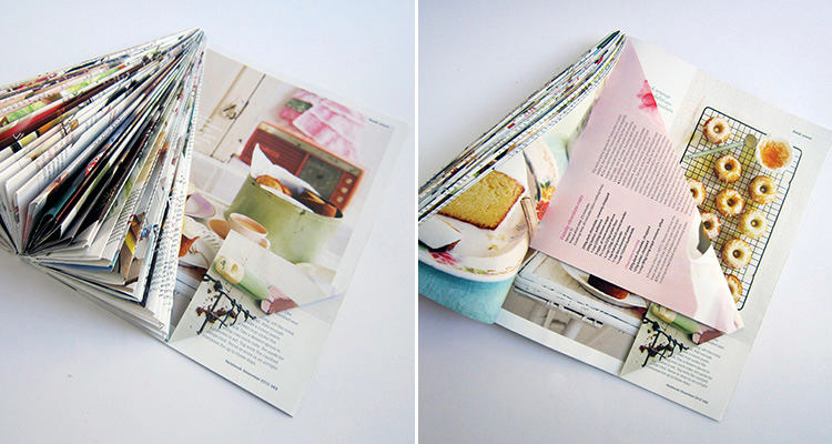 1-DIY-mini-Christmas-tree-for-table-setting-from-an-old-magazine-recycling-idea-remake