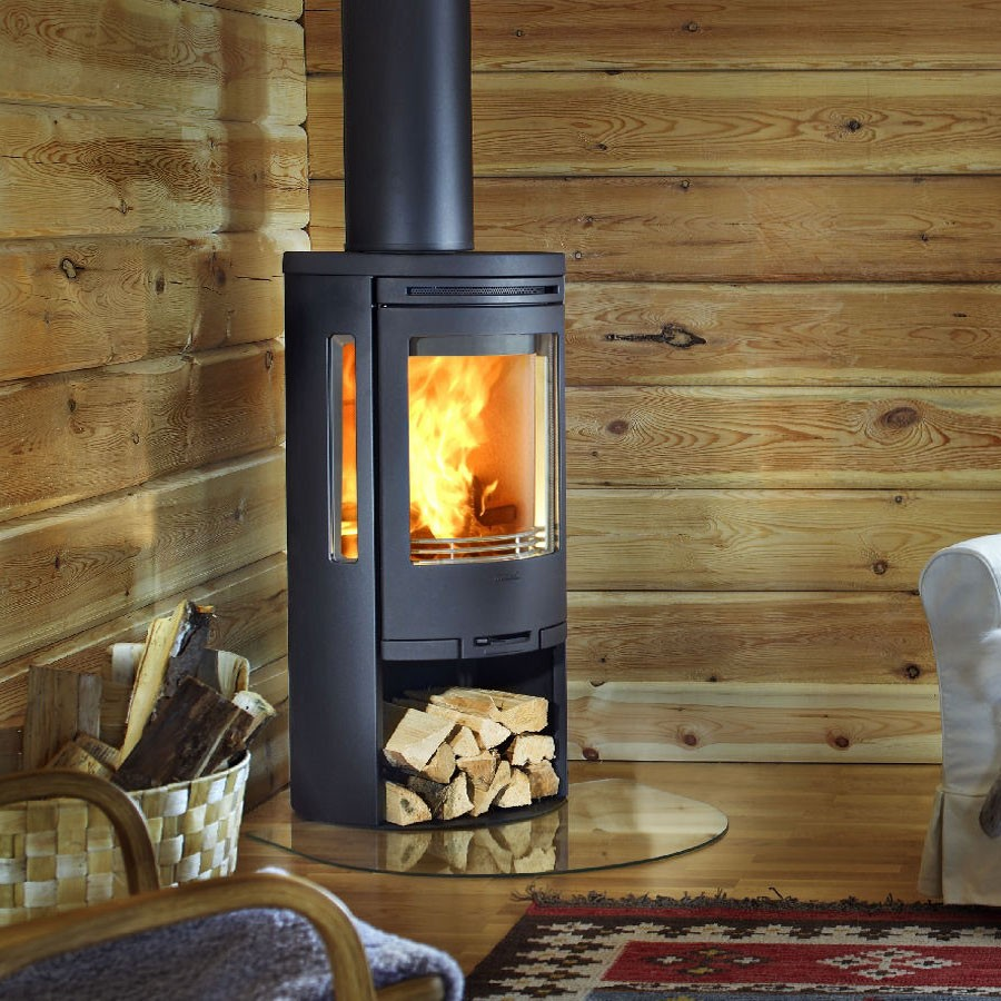 4-wood-burning-stove-in-a-garden-office-cottage-country-house-timber-log-house-basket-arm-chair-sofa