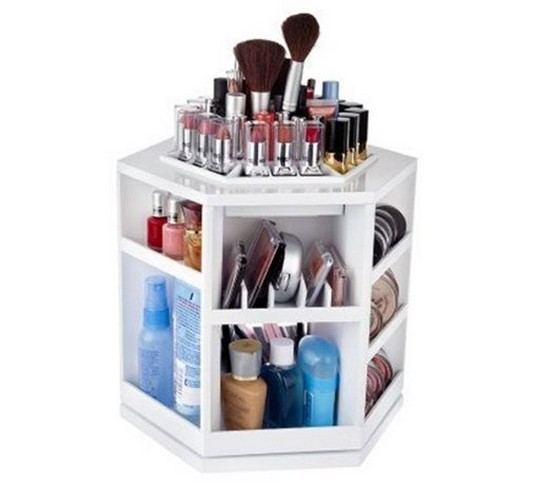 5-neat-tidy-makeup-beauty-products-storage-ideas-rotational-rotating-organizer
