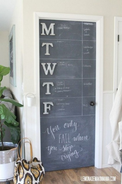 1-notice-note-memory-board-family-chore-organizer-idea-pantry-door-painted-with-chalkboard-paint-erasable-week-plan-schedule